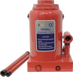 Carpoint pot jack 50 ton steel red