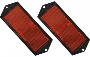 Carpoint reflectorset 104 x 40 mm 2 pcs rouge