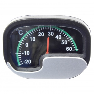 Carpoint thermometer 15 x 9 cm black/silver