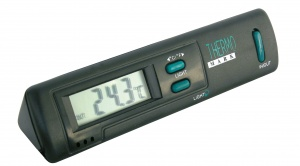 Carpoint thermometer inside and outside 19 cm black