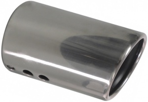 Carpoint exhaust pipe stainless steel around 30-50 mm silver 14 cm