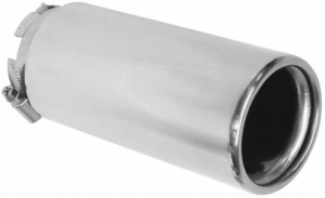 Carpoint exhaust pipe stainless steel around 30-54 mm silver 16.5 cm