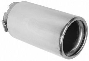 Carpoint exhaust pipe stainless steel around 55-66 mm silver 16 cm