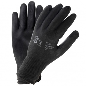 Carpoint working gloves PU unisex black