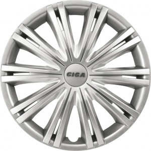 Carpoint wheel covers Giga 15 inch ABS silver set of 4