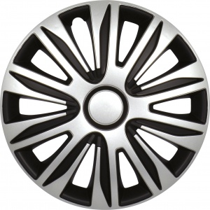 Carpoint wheel covers Nardo 15 inch ABS silver / black set of 4
