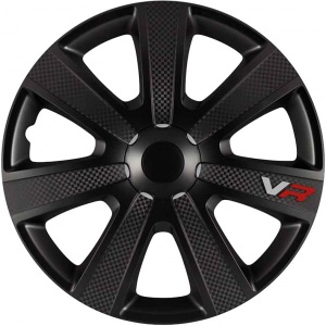 Carpoint hub caps VR Carbon 14 inch ABS black set of 4