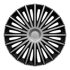 Carpoint hubcaps set Dakota 16 inch silver/black 4 pieces