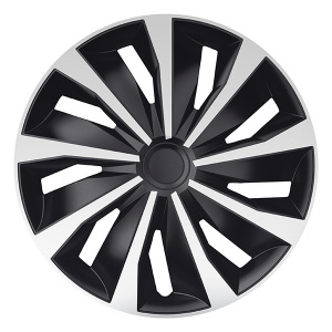 Carpoint hubcaps set Grip 14 inch black/silver 4 pieces