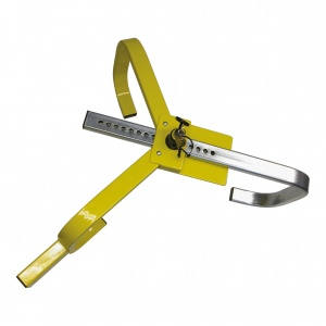Carpoint wheel clamp 13-15 inches yellow