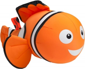 Cuddlebug coussin peluche Clown Fish 33 x 20 cm orange