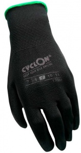 Cyclon working gloves nylon/PU unisex black/green