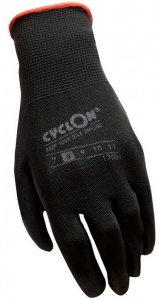 Cyclon working gloves nylon/PU unisex black/red