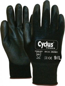 Cyclus Tools assembly gloves nylon / PU unisex black