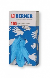 Berner Disposable Gloves Nitrile 100x Size L