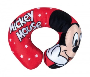 Disney coussin de nuque Mickey Mouse 26 cm rouge