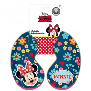 Disney coussin de nuque Minnie Mouse21 cm bleu/rose