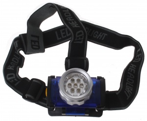 Dunlop Headlamp LED Battery 4 x 7 cm blue / black