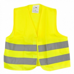 Dunlop safety vest unisex one size yellow