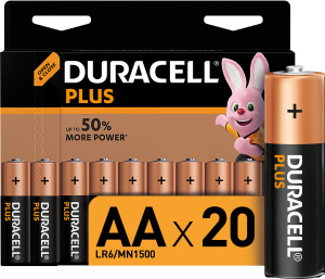 Duracell batteries AA Plus LR6/MN1500 20 pieces