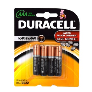 Duracell batteries LR03 AAA 4 pieces