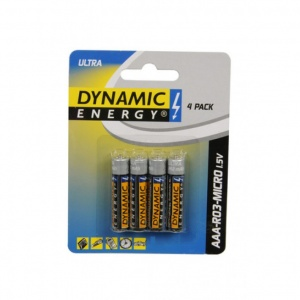 Dynamic Energy batterijen ultra R03 AAA zink 4 stuks