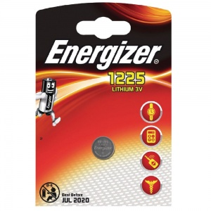 Energizer battery button cell Lithium 3V BR1225 each