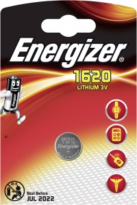 Energizer battery button cell Lithium 3V CR1620per piece