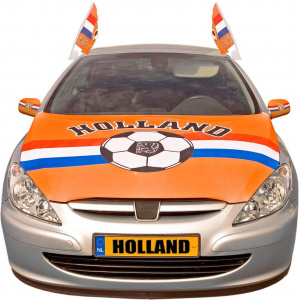 Folat hood cover Netherlands polyester orange/red/white/blue