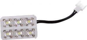 Foliatec ceiling light T10 / BA9S / C5W SMD led 12 Volt 6,4 Watt white