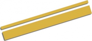 AutoStyle sticker AutoStripe Cool350 3+2 mm 975 cm goud