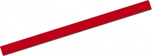 AutoStyle sticker AutoStripe Cool200 3 mm 975 cm rood