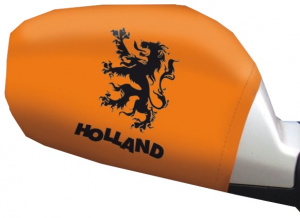 Free and Easy autospiegelhoesjes Holland oranje 2 stuks one-size