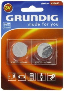 Grundig button cell batteries CR2032 2 pieces