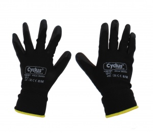 H.B.V. assembly gloves nylon / PU unisex gray