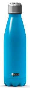 I-Drink flacon thermos 750 ml acier inoxydable bleu