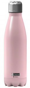 I-Drink flacon thermos 750 ml en acier inoxydable rose clair