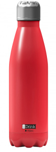 I-Drink flacon thermos 750 ml acier inoxydable rouge