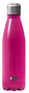 I-Drink flacon thermos 750 ml en acier inoxydable rose