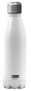I-Drink flacon thermos 750 ml acier inoxydable blanc