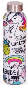 I-Drink thermosfles Unicornweekend 500 ml RVS/glas