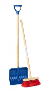 Klein snow plough and broom junior blue/red 94,5 cm