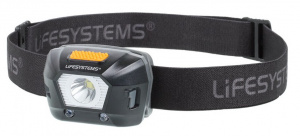 Lifesystems headlamp led 235 lumens aluminium/elastane black