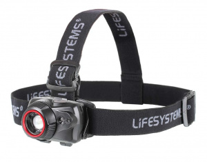 Lifesystems headlight led 500 lm aluminium/elastane black