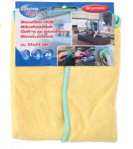 Lifetime Clean polishing cloth 35 cm microfibre yellow