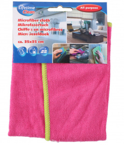 Lifetime Clean wiping cloth 35 cm microfibre pink
