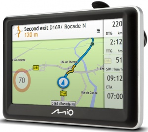 Mio car navigation Spirit 7700LM Europe black