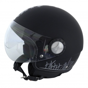 MotorX motorcycle helmet Jet City Hunter black size L