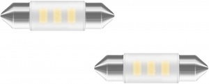 Neolux car lamp C5W SMD led 36 mm 12 V 0.5 W white 2 pieces
