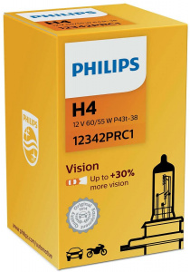 Philips autolampe H4 Vision12V/55-60W weiß